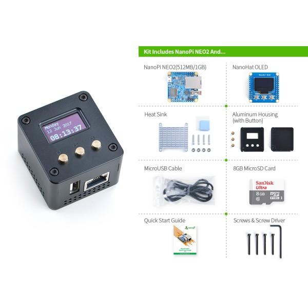 NanoPi-NEO2 (w/1G RAM) Complete Starter Kit