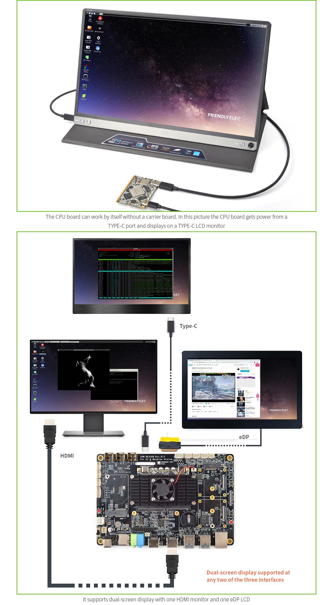 SOM-RK3399 Dev Kit with Rockchip 64-bit hexa-core RK3399 CPU Board